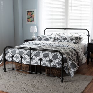 Contemporary Antique Bronze Finished Metal Platform Bed by Baxton Studio