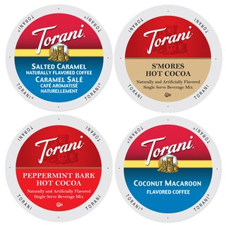 Torani Famous Dessert Coffee Collection, Flavors That Have the Taste of Delectable Desserts in Each Cup of Rich Coffee, 96 Count