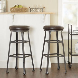 Preston Industrial Bar Stool by Silverwood, Set of Two