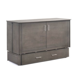 SAGEBRUSH MURPHY CABINET QUEEN STONEWASH with mattress