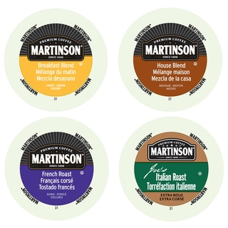 Martinson Classic Coffees Collection, 4 Sensational Blends of Coffees That Give You an Amazing Start to the Day, 96 Count