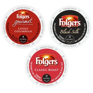 Folgers Gourmet Selections Coffee Pack, 3 Thrilling Flavor of Mind Blowing Coffees, 72 Count