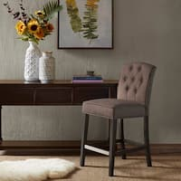 Madison Park Misha Grey Tufted Counter Stool