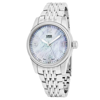 Oris Women's 733 7649 4066 MB 'Big Crown' Mother of Pearl Dial Stainless Steel Swiss Automatic Watch
