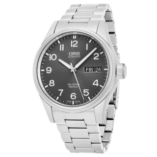 Oris Men's 752 7698 4063 MB 'Big Crown' Grey Dial Stainless Steel Swiss Automatic Watch