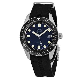 Oris Men's 733 7720 4055 LS 26 Heritage Divers 65' Blue Dial Black Nylon Strap Swiss Automatic Watch