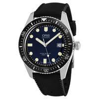 Oris Men's  'Heritage Divers65' Blue Dial Black Rubber Strap Swiss Automatic Watch
