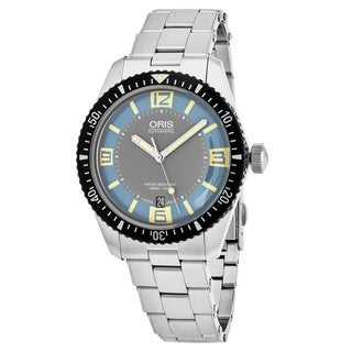 Oris Men's 733 7707 4065 MB 'Heritage Divers 65' Light Blue Dial Stainless Steel Swiss Automatic Watch
