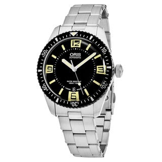 Oris Men's 733 7707 4064 MB 'Divers65' Black Dial Stainless Steel Swiss Automatic Watch