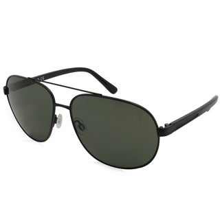 Timberland Fashion Men's TB9076 02R Black Frame Polarized Grey Lens Sunglasses