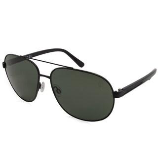 Timberland Fashion Men's TB9076 02R Black Frame Polarized Grey Lens Sunglasses