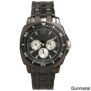 Olivia Pratt Men's Stainless-steel Elegant Faux Chronograph Bracelet Watch