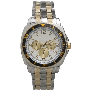 Olivia Pratt Men's Stainless-steel Elegant Faux Chronograph Bracelet Watch