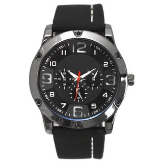 Olivia Pratt Men's Black Silicone Analog Watch