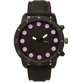 Olivia Pratt Men's Large Dot Hour Markers One-size Watch (4 options available)