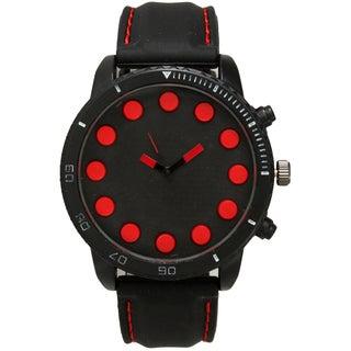 Olivia Pratt Men's Large Dot Hour Markers One-size Watch