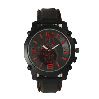 Olivia Pratt Men's Black One Size Watch with Large Hour Markers (5 options available)