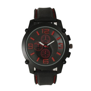 Olivia Pratt Men's Black One Size Watch with Large Hour Markers