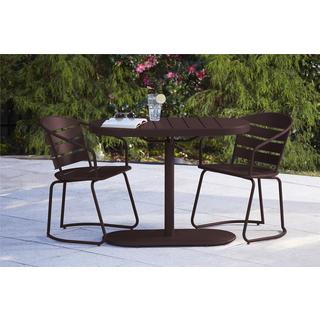 COSCO Outdoor Living 3-piece Metro Retro Nesting Brown Bistro Steel Patio Furniture Set