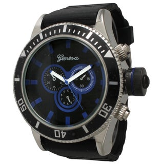 Olivia Pratt Men's Simple and Bold Black Silicone One Size Watch (4 options available)