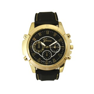 Olivia Pratt Men's Faux Chronograph Silicone Watch