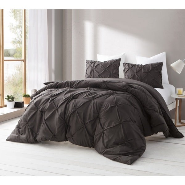 BYB Dematasse Brown Pin Tuck Comforter Set
