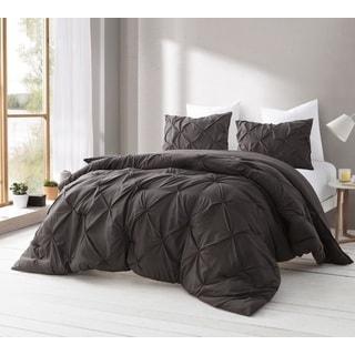 Dematasse Brown Pin Tuck Comforter Set