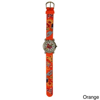 Olivia Pratt Kids' Silicone Butterflies and Flowers Watch
