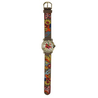 Olivia Pratt Kids' Silicone Butterflies and Flowers Watch