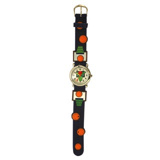 Olivia Pratt Kids Slam Dunk Basketball Silicone Watch (Option: Green)