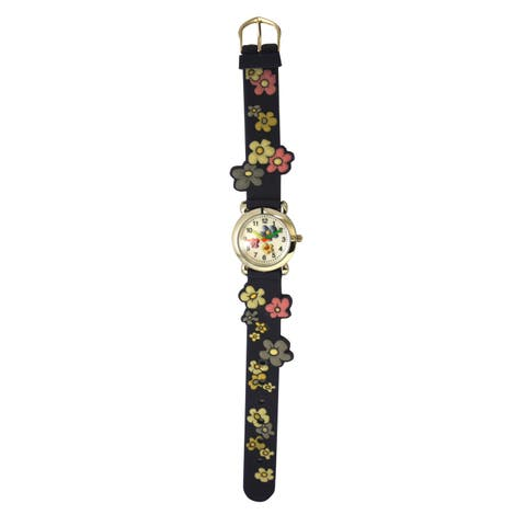 Olivia Pratt Kids' Colorful Flowers Silicone One-size Watch