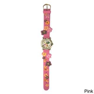 Olivia Pratt Kids' Colorful Flowers Silicone One-size Watch