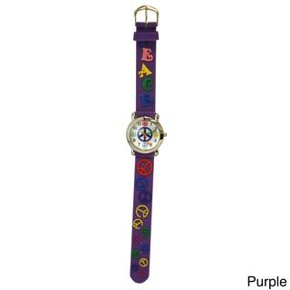 Olivia Pratt Kids' Peace Silicone One Size Watch