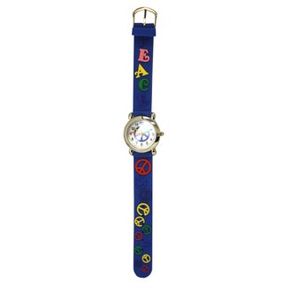 Olivia Pratt Kids' Peace Silicone One Size Watch