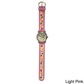 Olivia Pratt Candy Hearts Silicone One Size Adjustable Kids Watch