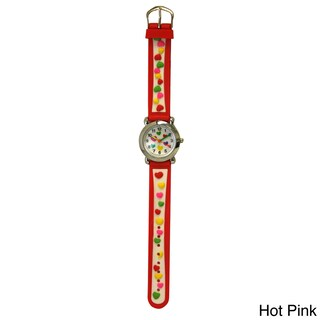 Olivia Pratt Candy Hearts Silicone One Size Adjustable Kids Watch (5 options available)