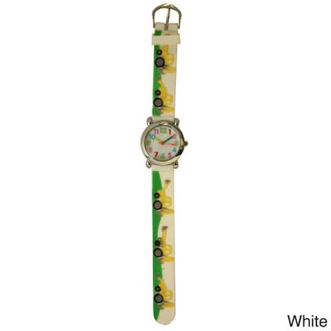 Olivia Pratt Kids' Tractors Silicone One-size Watch