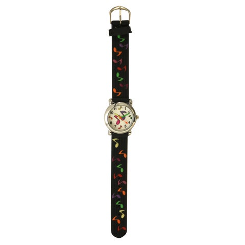 Olivia Pratt Kids Musical Notes Multicolor Silicone Watch