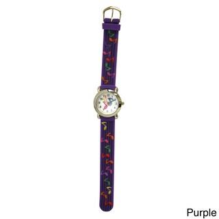 Olivia Pratt Kids Musical Notes Multicolor Silicone Watch (Option: Purple)
