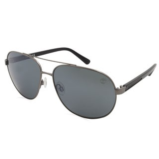 Timberland Fashion Men's TB9076 09D Gunmetal Frame Polarized Smoke Lens Sunglasses