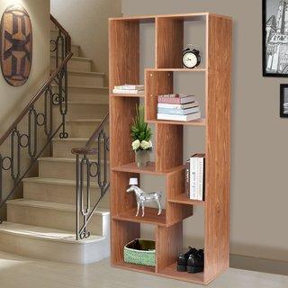 Adeco Contemporary Bookcase Wall Shelf