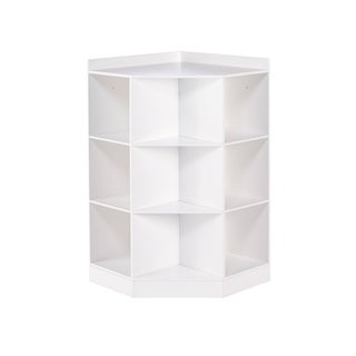 RiverRidge® Kids 6-Cubby, 3-Shelf Corner Cabinet - White