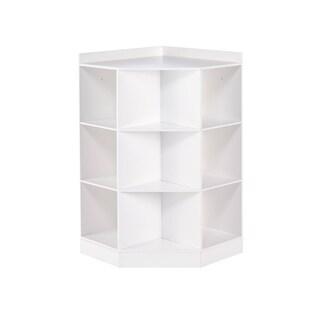 RiverRidge® Kids 6-Cubby, 3-Shelf Corner Cabinet - White