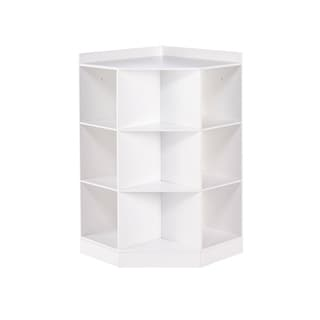 Beau RiverRidge® Kids 6 Cubby, 3 Shelf Corner Cabinet   White