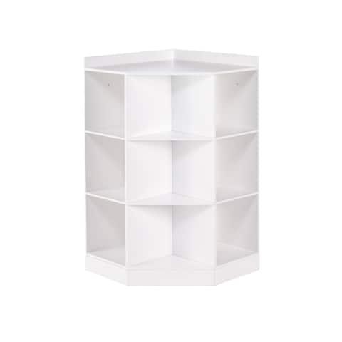 RiverRidge® Kids 6-Cubby, 3-Shelf Corner Cabinet