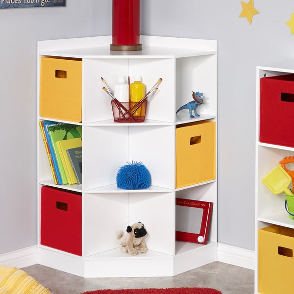 RiverRidge® Kids 6 Cubby, 3 Shelf Corner Cabinet   White