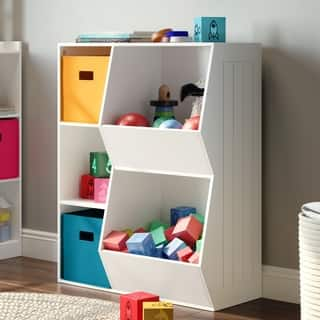 RiverRidge® Kids 3-Cubby, 2-Veggie Bin Floor Cabinet|https://ak1.ostkcdn.com/images/products/14229835/P20821069.jpg?impolicy=medium