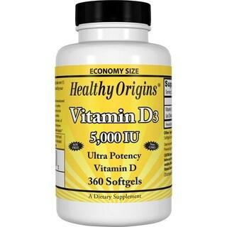 Healthy Origins Vitamin D3 5,000 IU (360 Softgels)