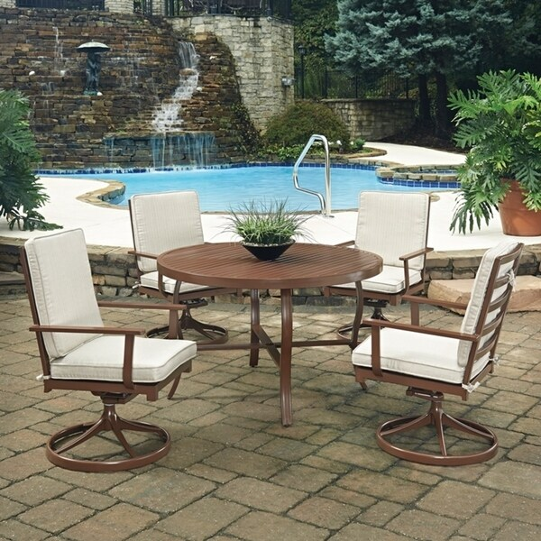 Shop Key West 5 Pc. Round Outdoor Dining Table& 4 Swivel