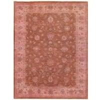Handmade Herat Oriental Afghan Over-dyed Oushak Wool Rug (Afghanistan) - 4'10 x 6'5